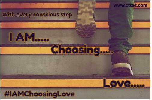 I amchoosinglove conscious step sai